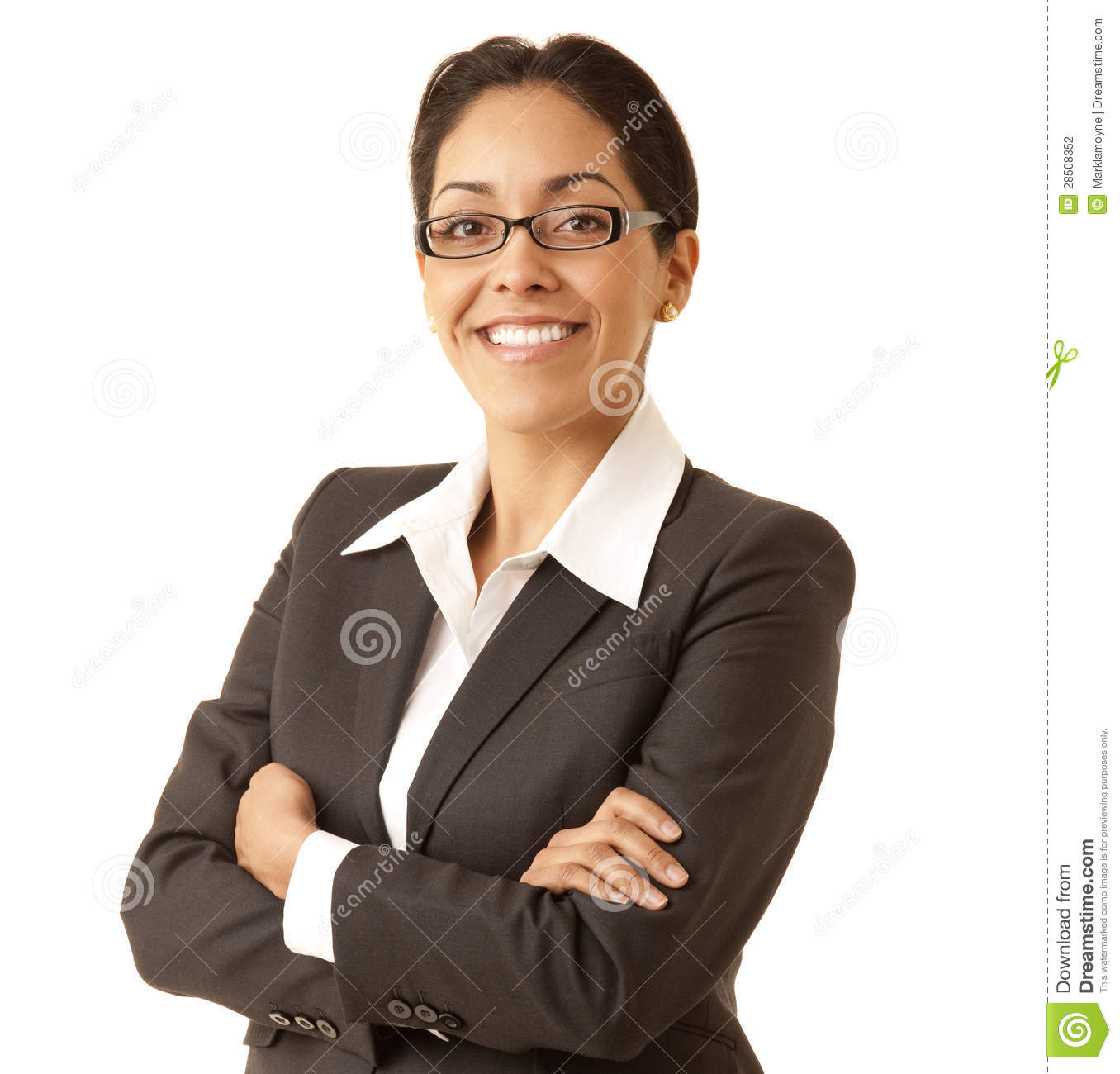 Confident Hispanic business woman