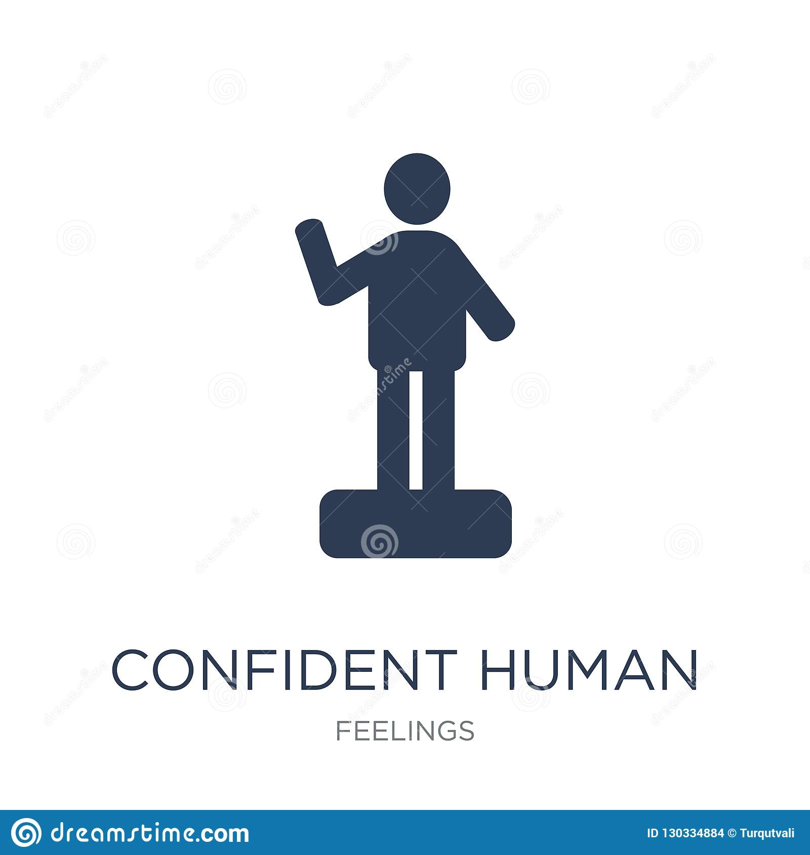 confident human icon. Trendy flat vector confident human icon on
