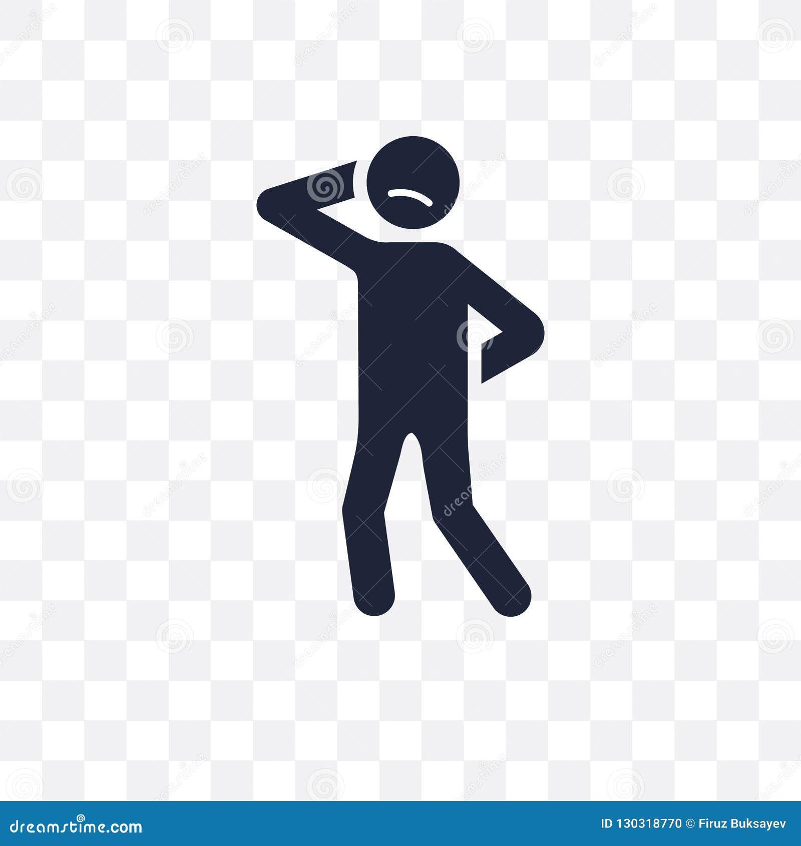 confident human transparent icon. confident human symbol design