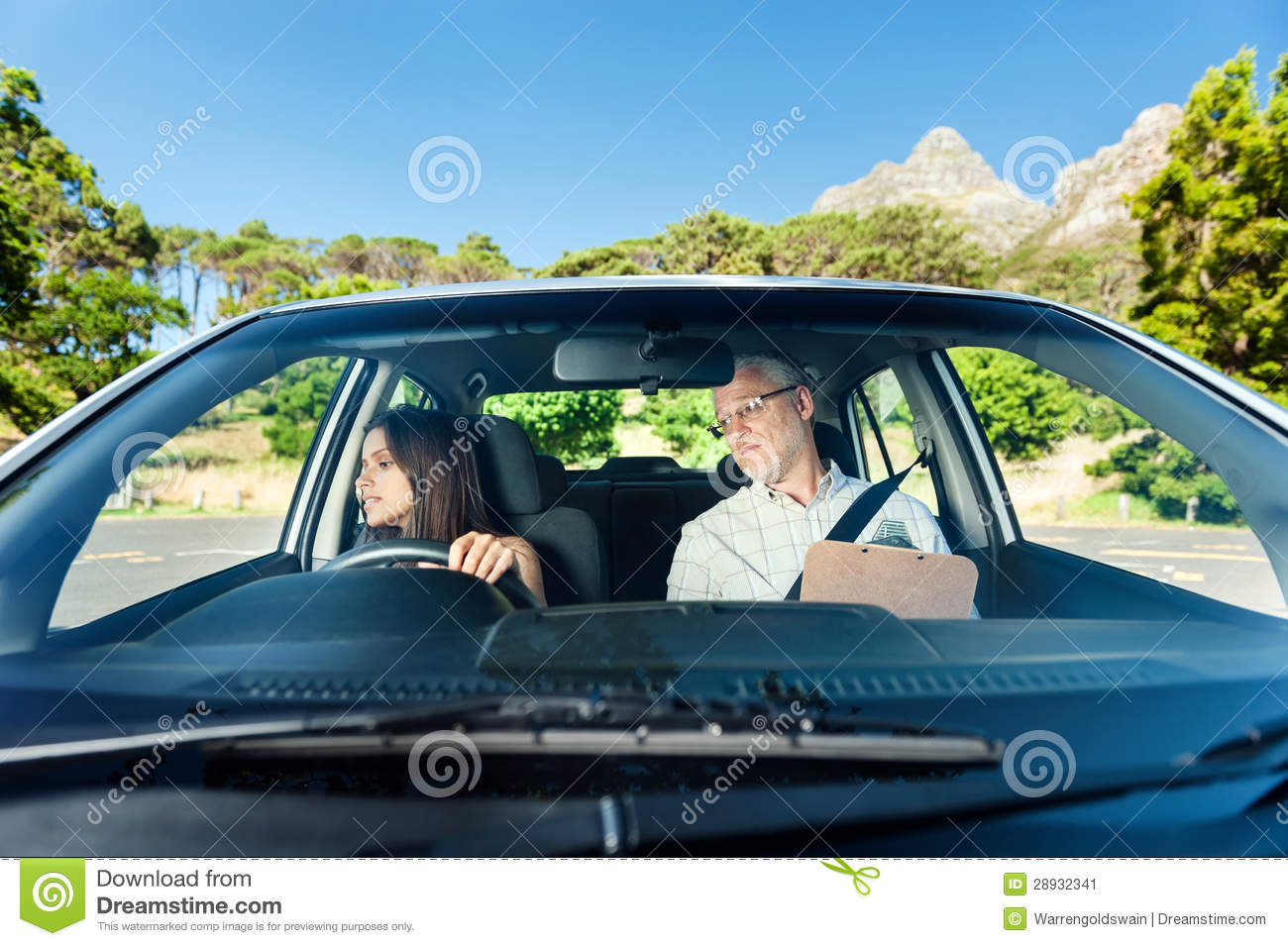 Confident Learner Driver Stock Image - Image: 28932341