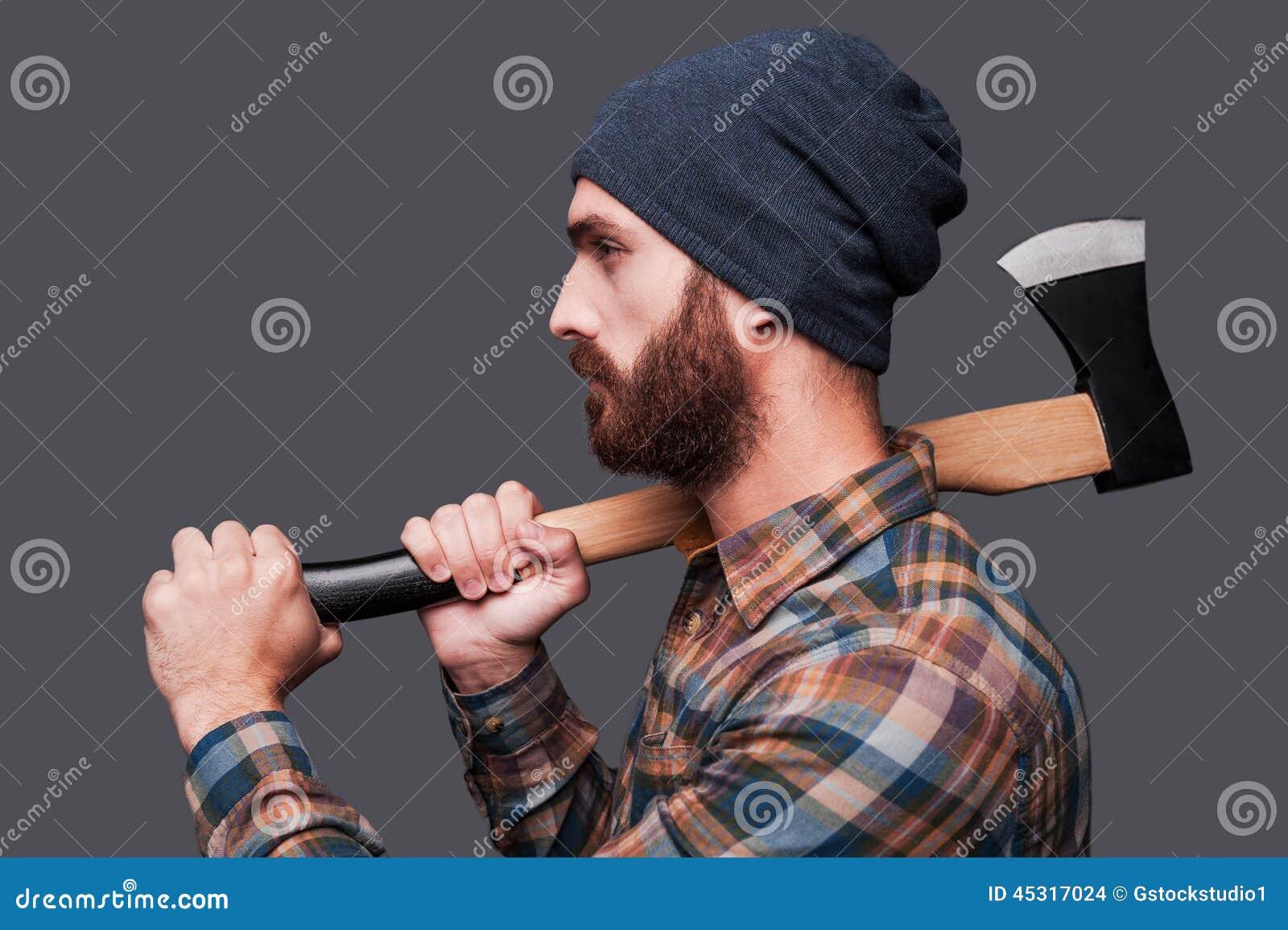 Confident Lumberjack Stock Photo Image 45317024