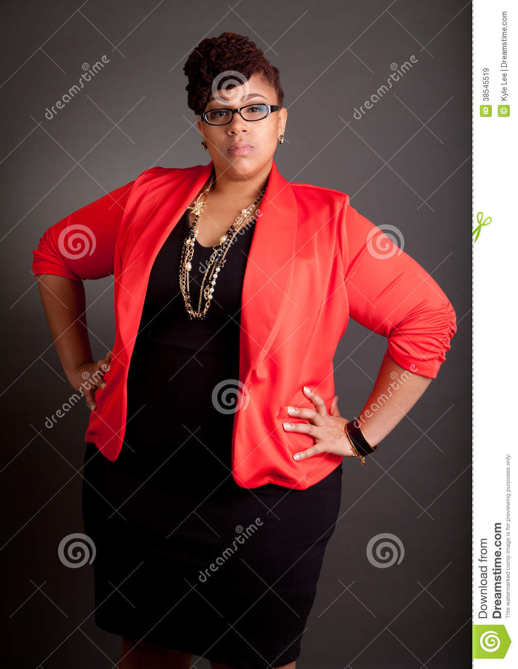 Confident Mature Plus Size Buisiness Women Stock Image ...