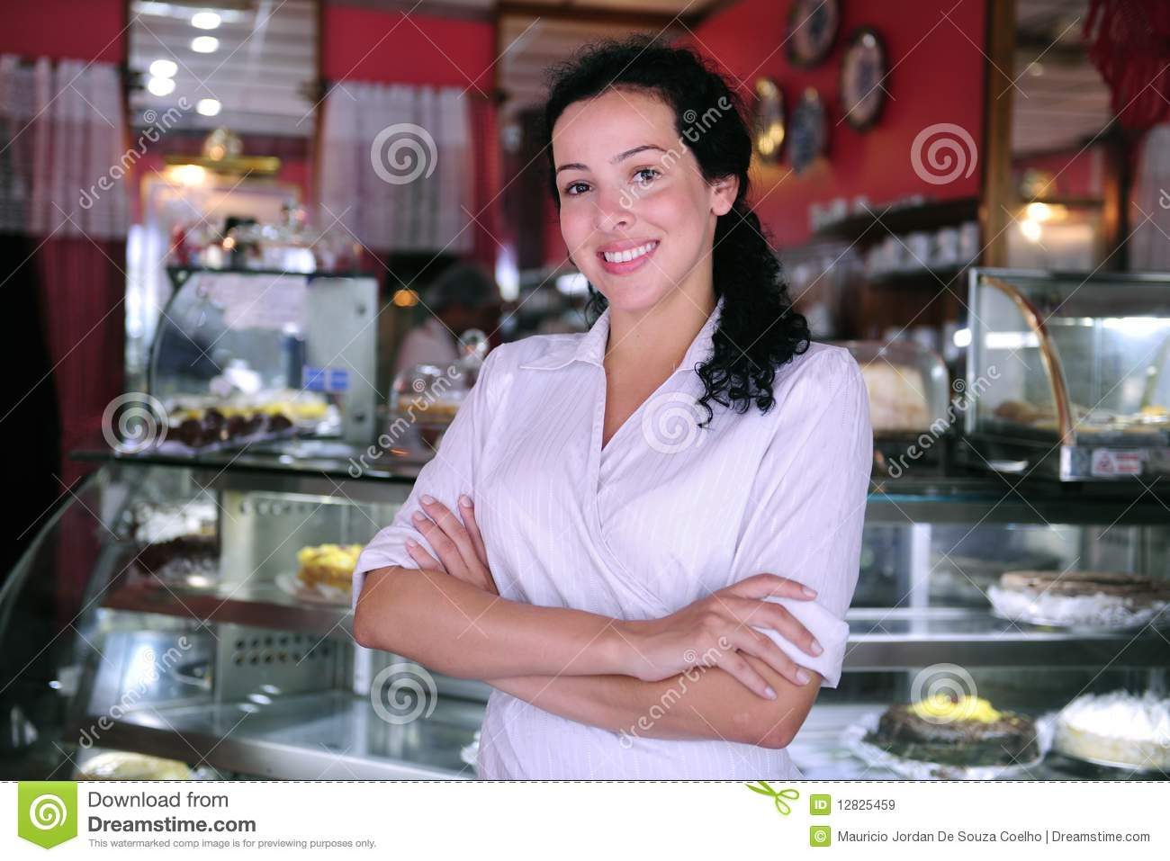 Confident owner of a pastry store