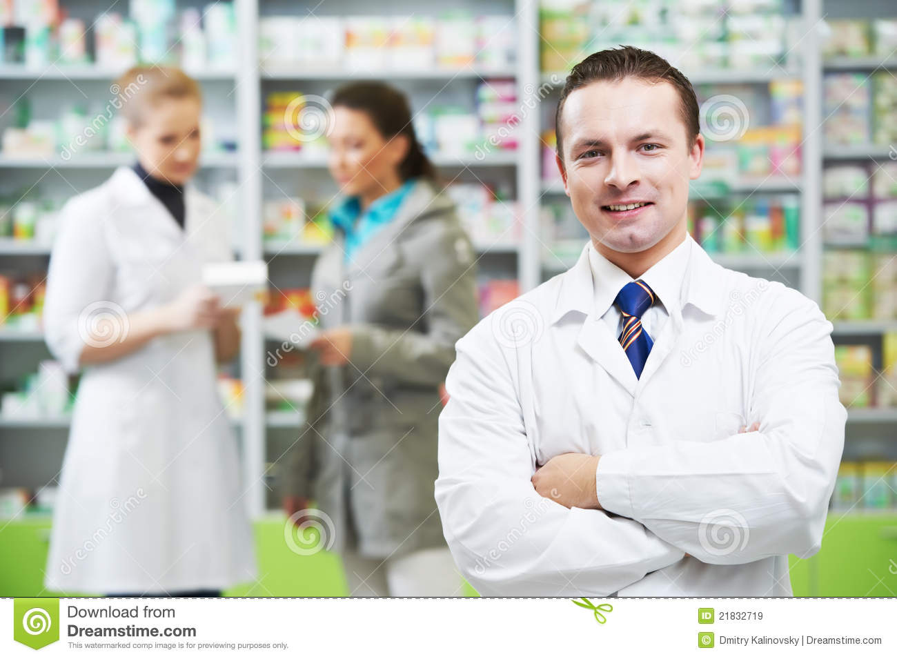 Confident Pharmacy Chemist Man In Drugstore Royalty Free Stock Images ... Happy Child Clipart