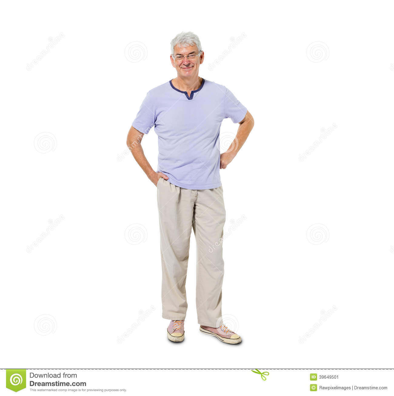 Confident Senior Man Standing and Smiling