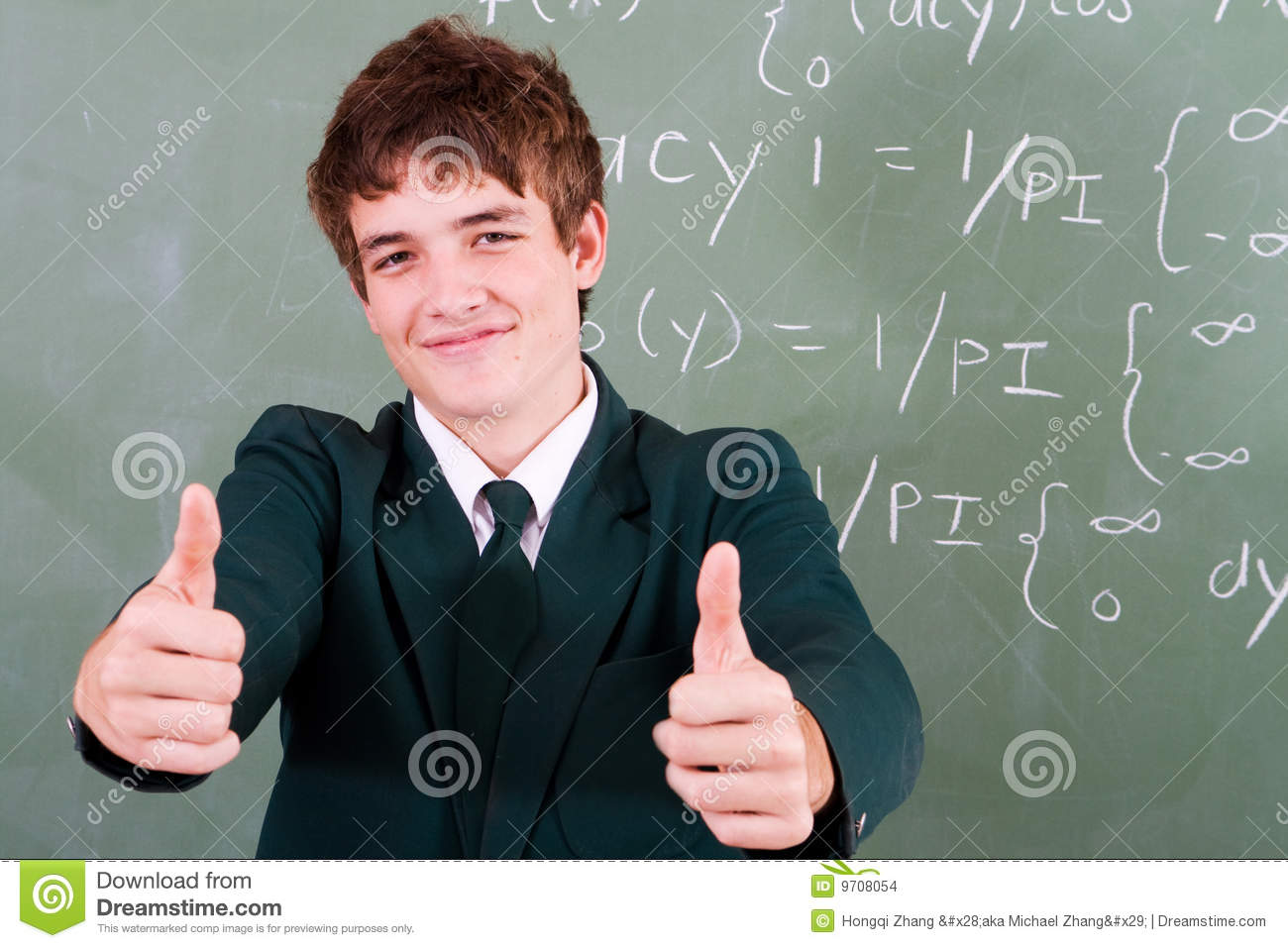 Modern Math Classroom ~ Confident student stock images image