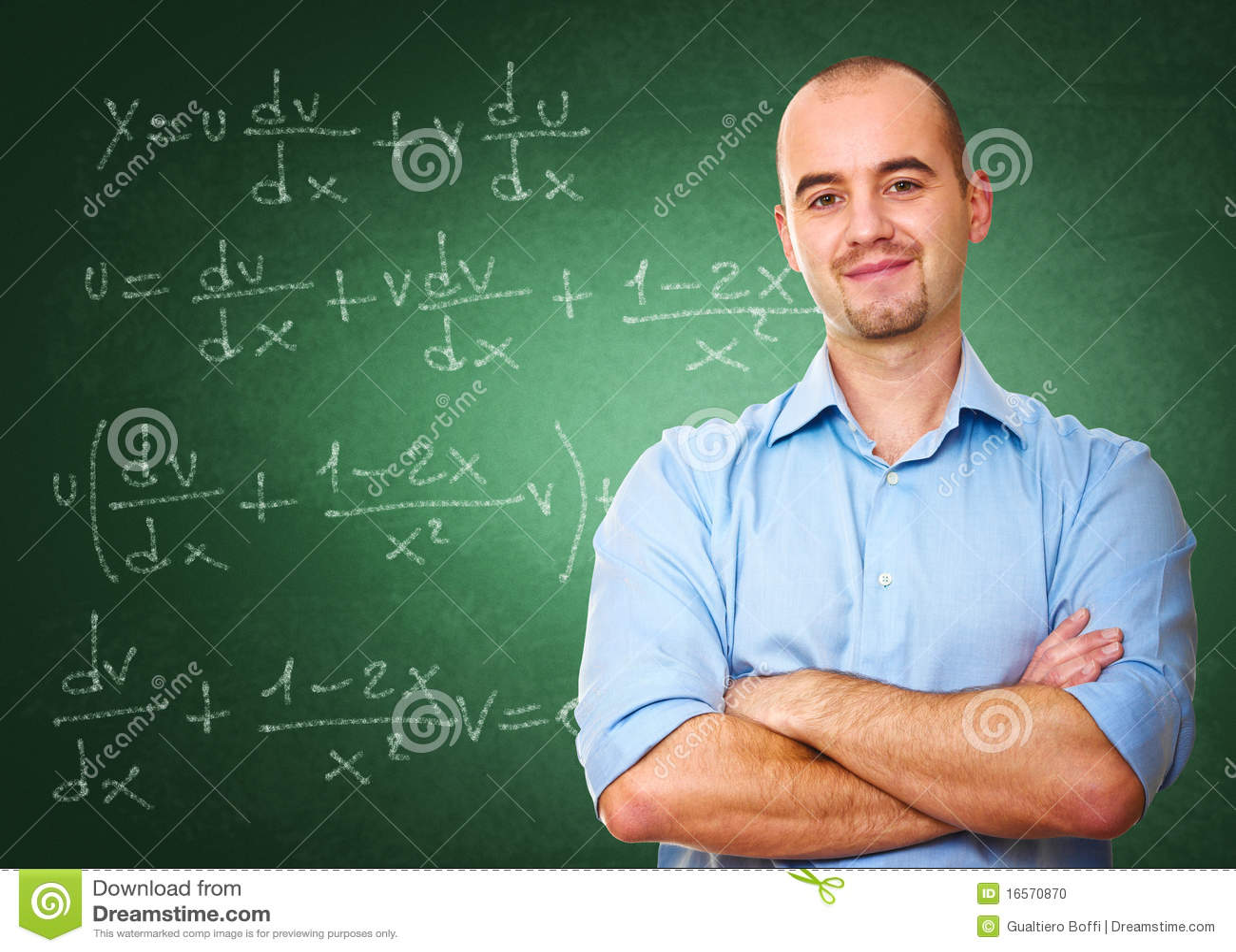 Confident teacher