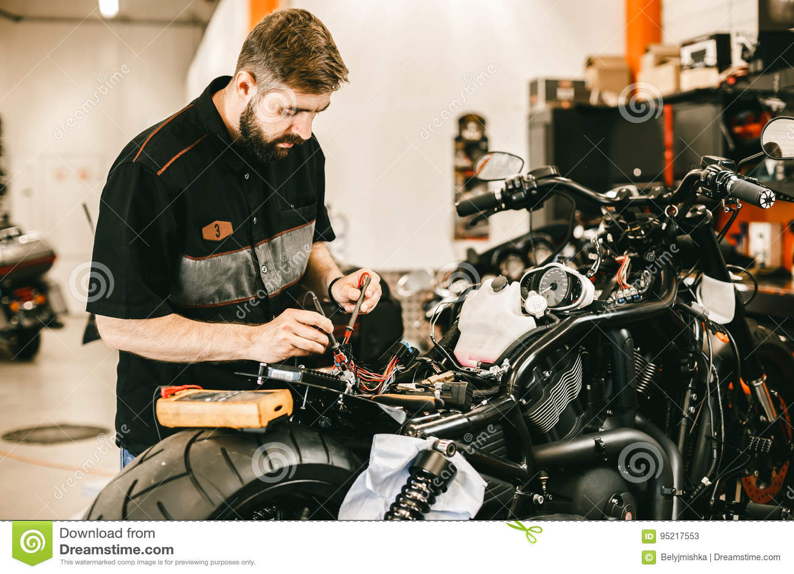 Repairing the motorcycle