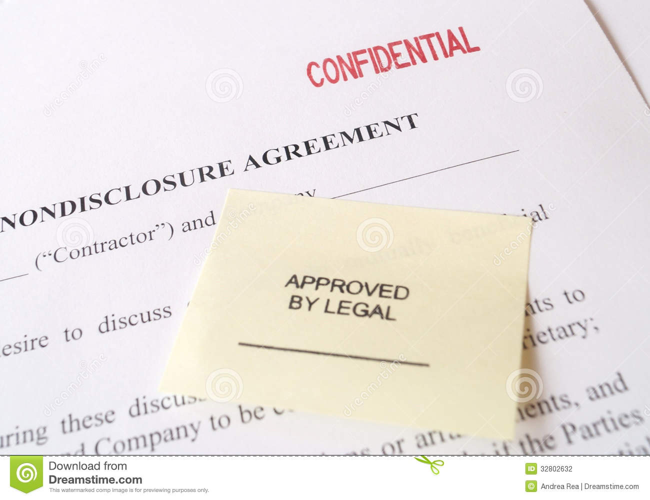 Business plan non-disclosure agreement
