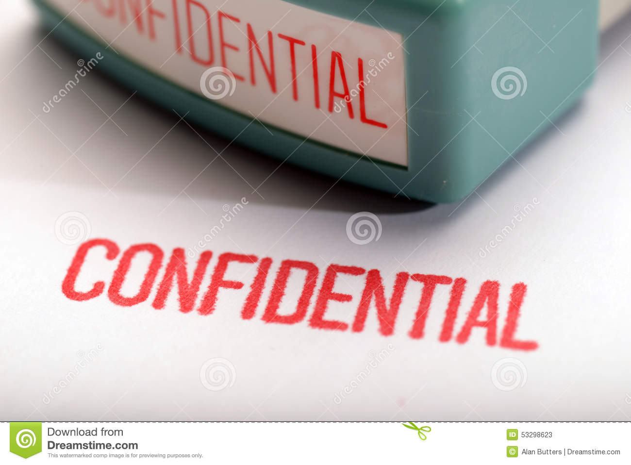 Confidential 2 stock photo image 53298623 for Uncontrolled document stamp