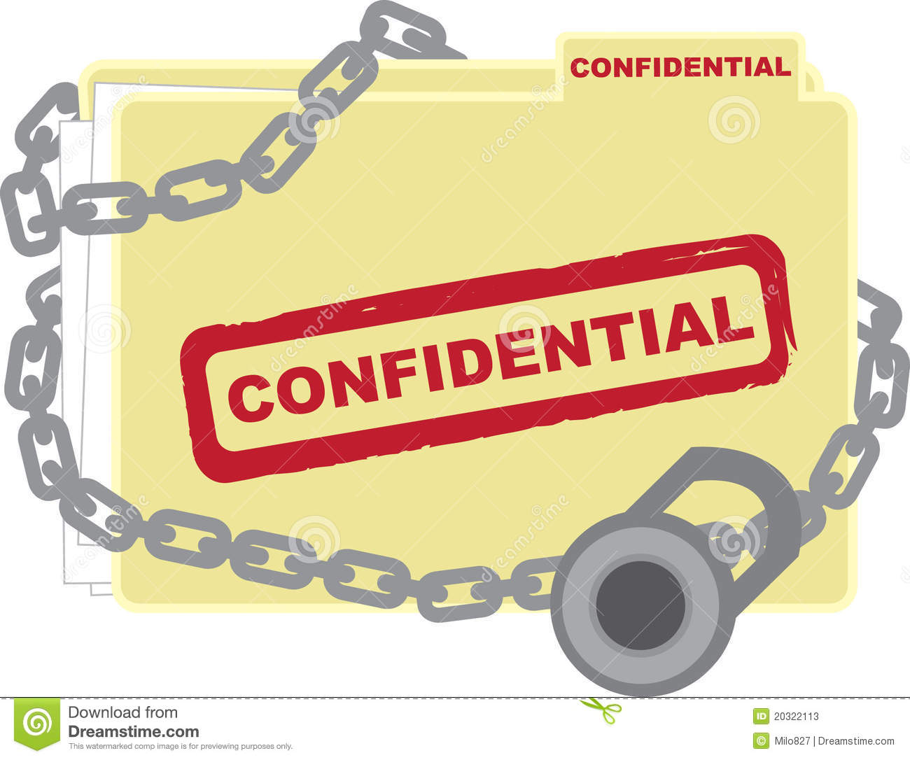 Confidential Folder Stock Photos - Image: 20322113