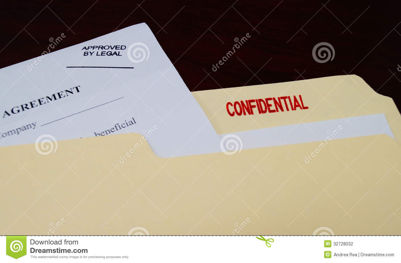 Confidential Legal Document Stock Photo