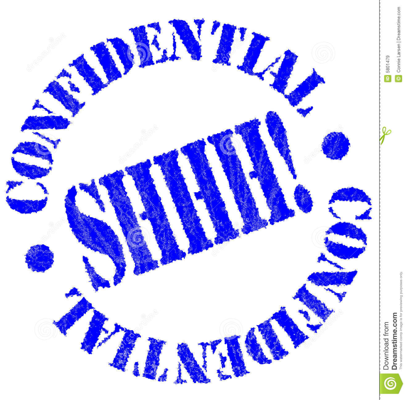 Confidential Rubber Stamp Royalty Free Stock Images - Image: 5801479