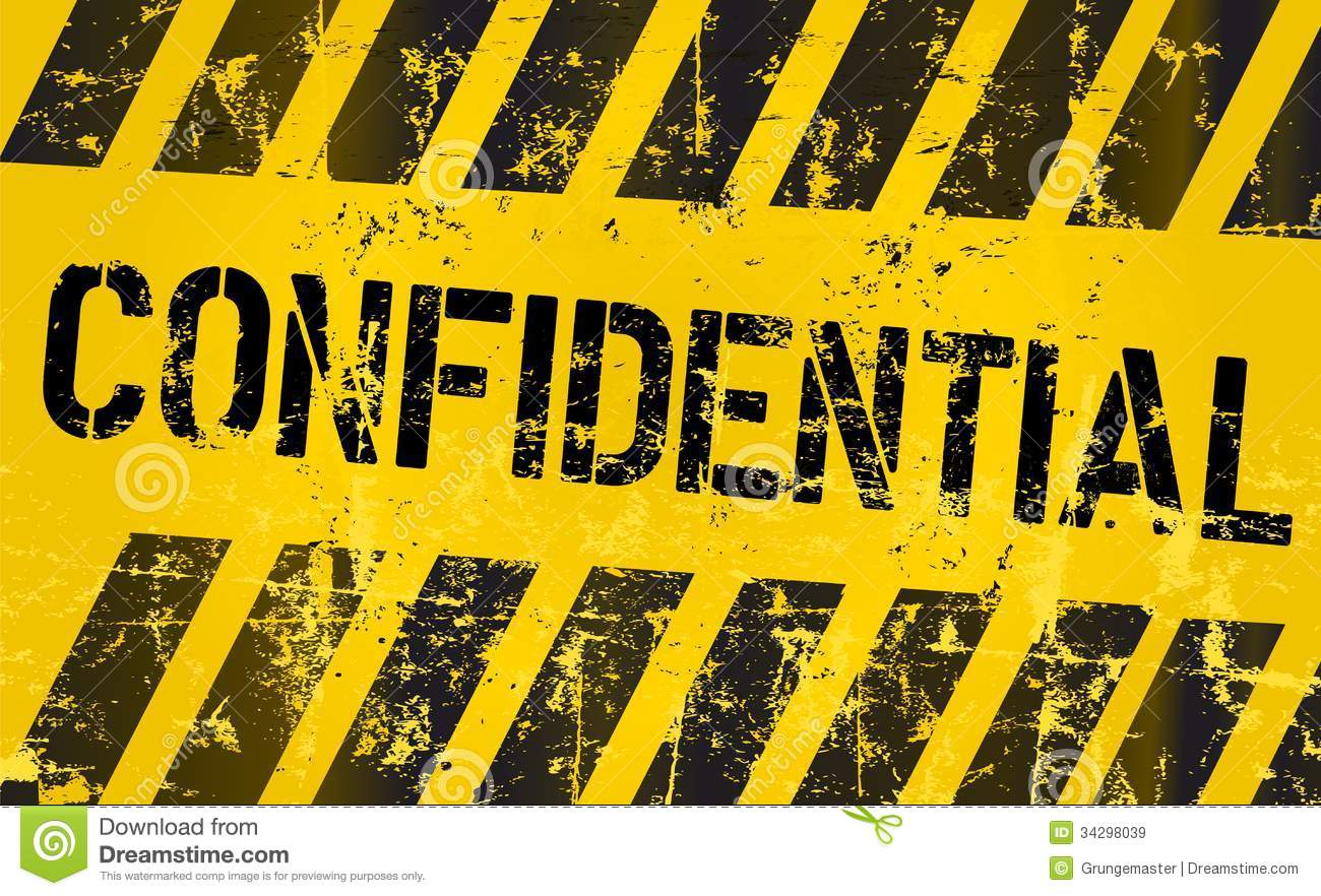 confidential sign  vector eps 10 royalty free stock images