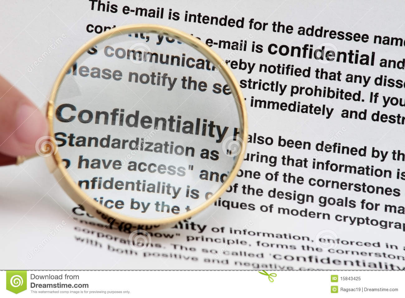 confidentiality stock image  image of document  glass