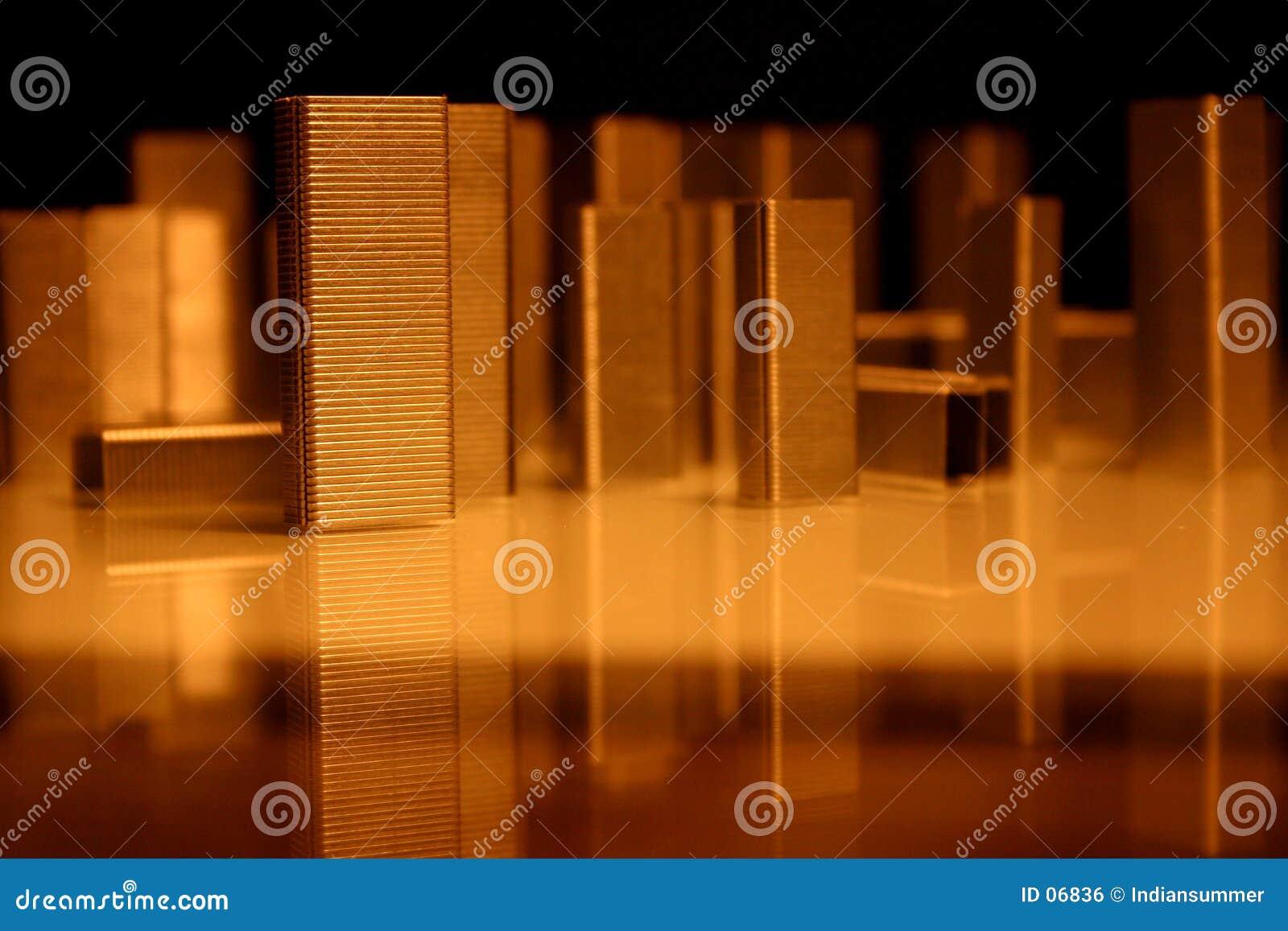 Configuración de las grapas, ciudad
