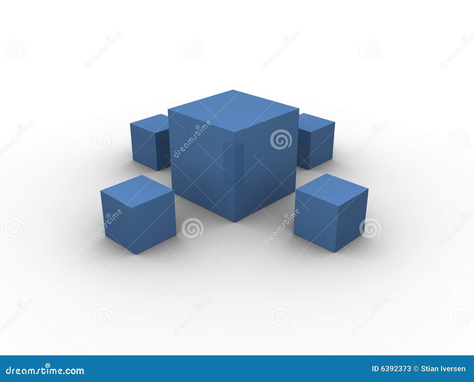 Configuration 1 de cadres bleus