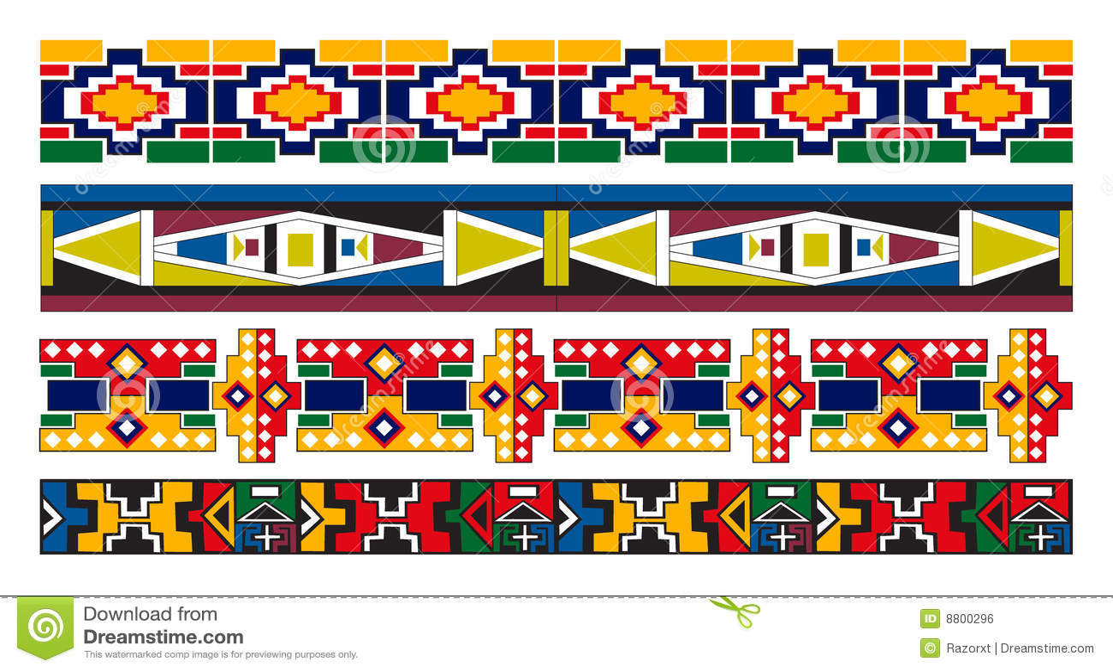Configuration africaine de ndebele de cadre d art