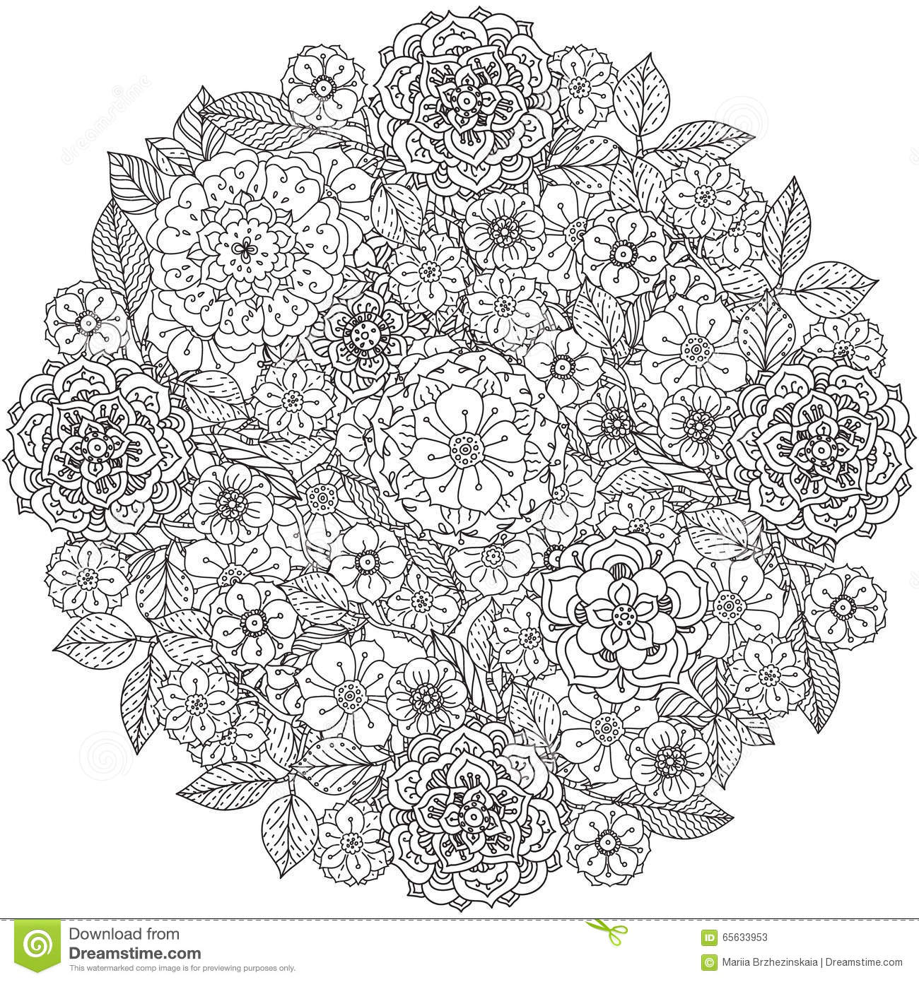 Configuration 08 Art de style de mandala Bagouts de Zentangle
