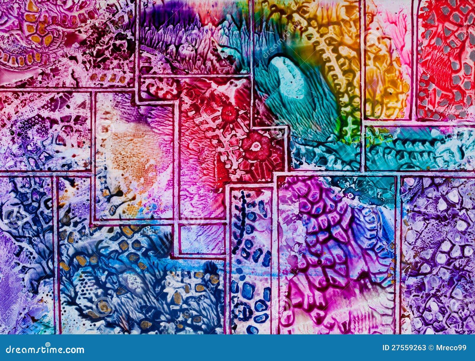 Configuration d 39 art de tapisserie en cire photos stock for Peindre de la tapisserie