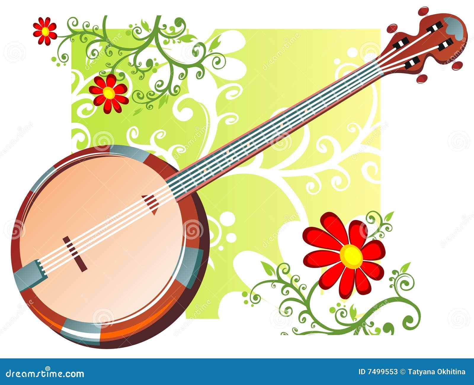 Configuration de banjo et de fleurs