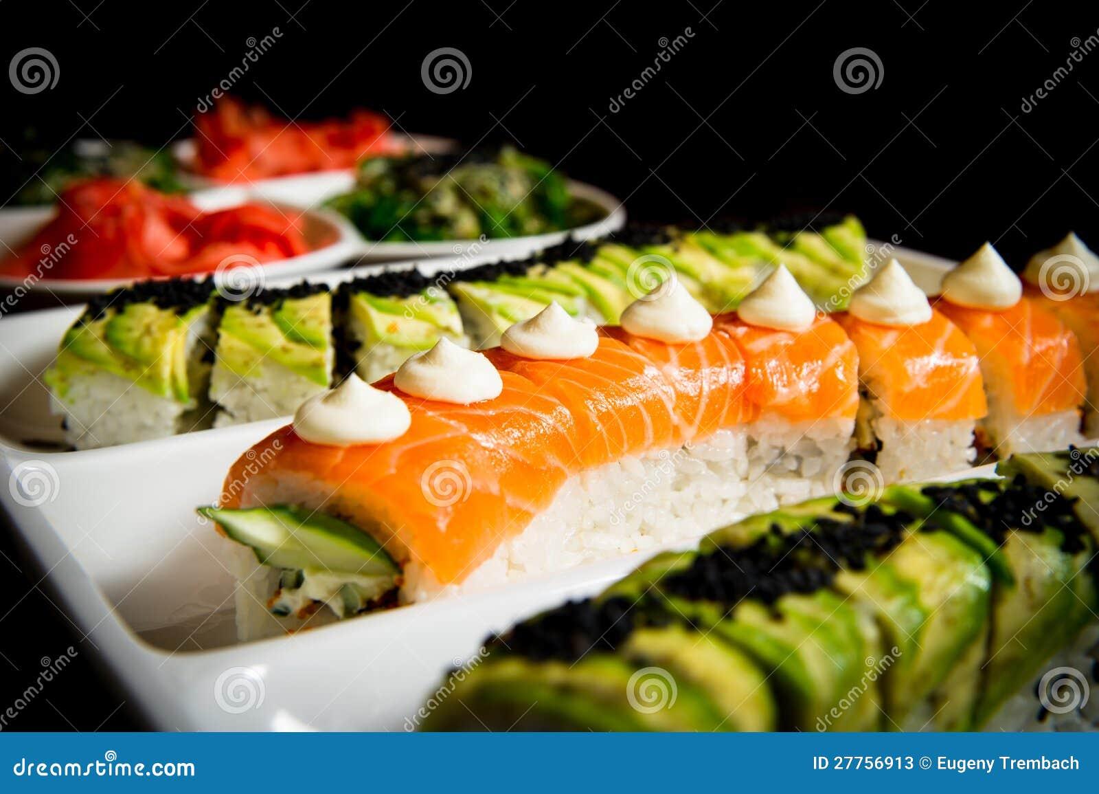Configuration de table de roulis de sushi