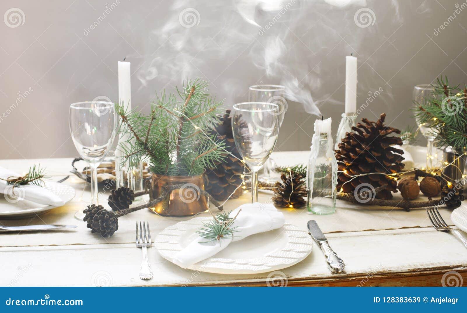 Configuration de table de Noël
