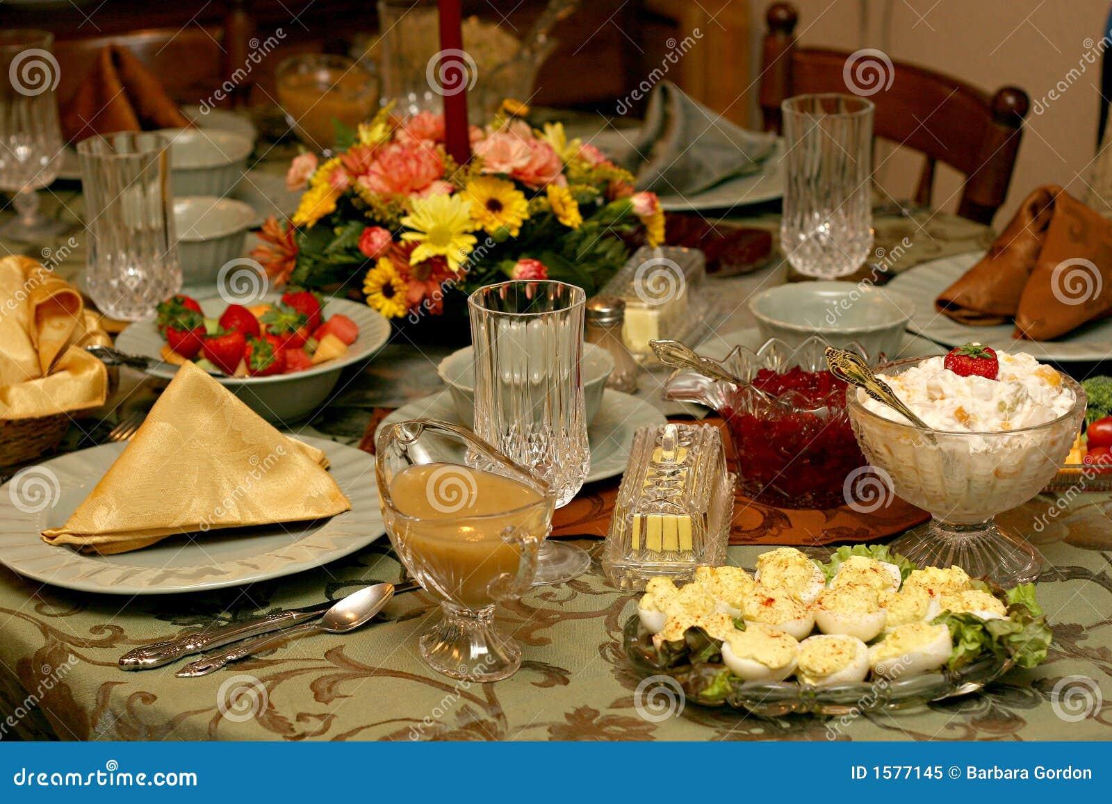 Configuration de Tableau de repas de vacances