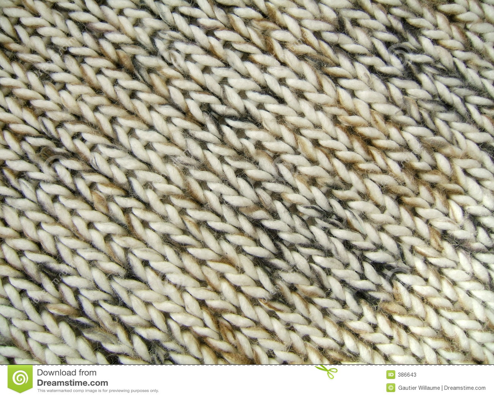 Configuration diagonale de laines
