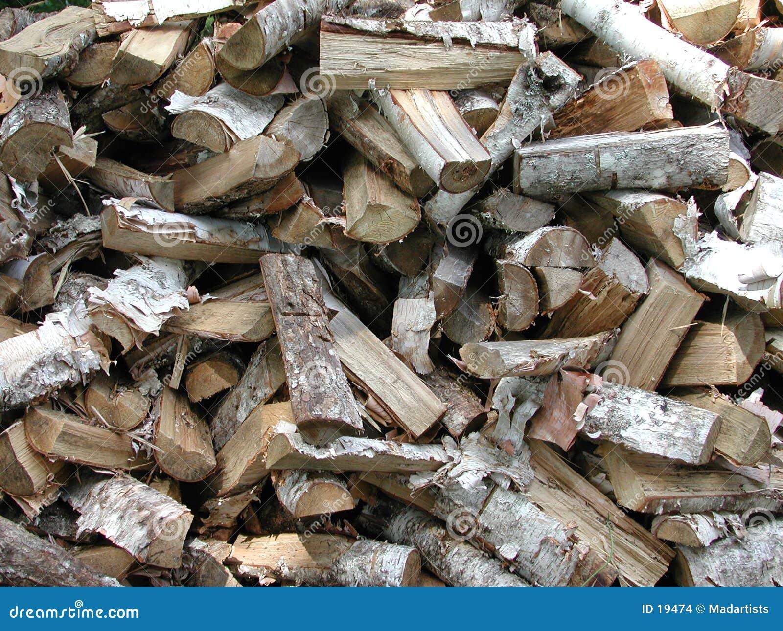 Configuration en bois de bois de chauffage de texture
