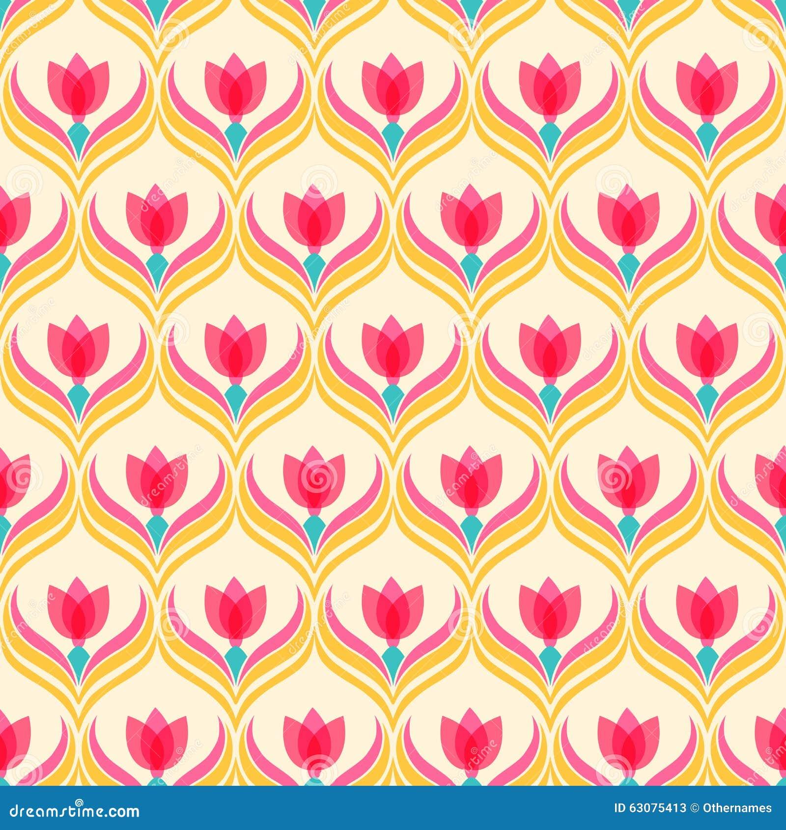 Download Configuration Florale Fond Sans Joint De Vecteur Illustration de Vecteur - Illustration du été, rideau: 63075413