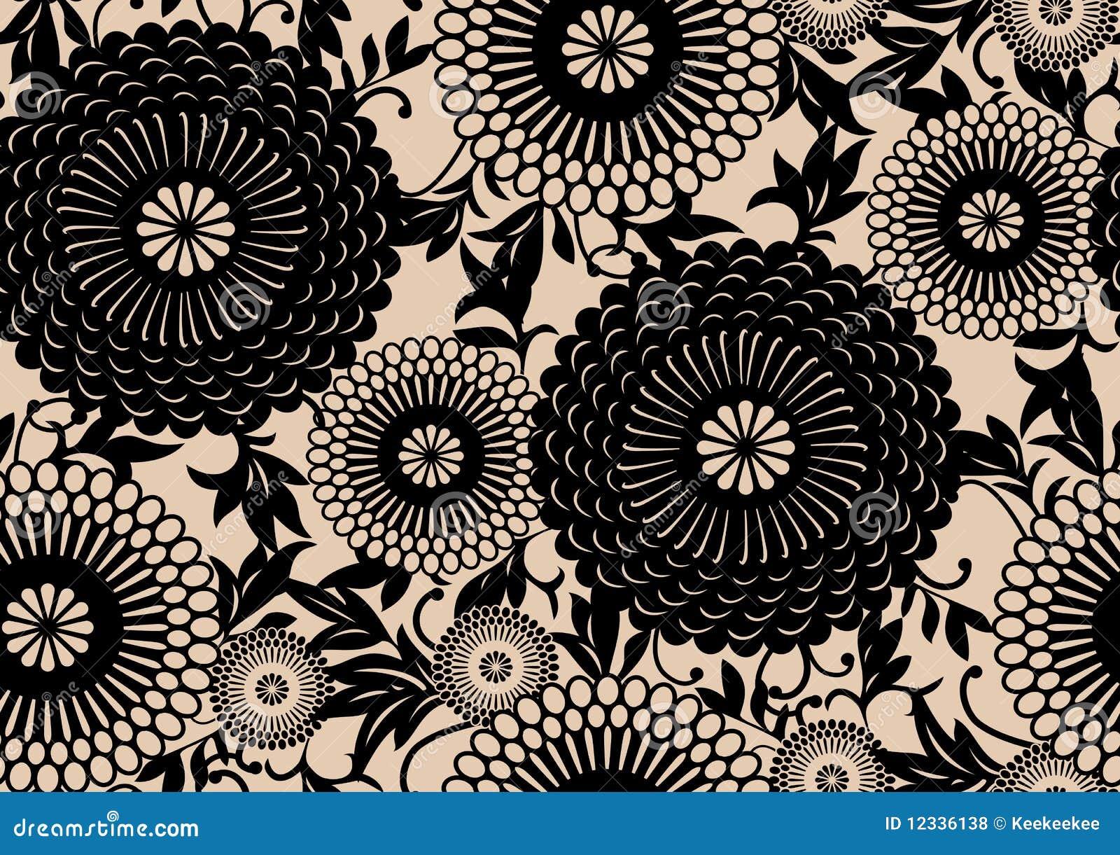 Configuration florale orientale