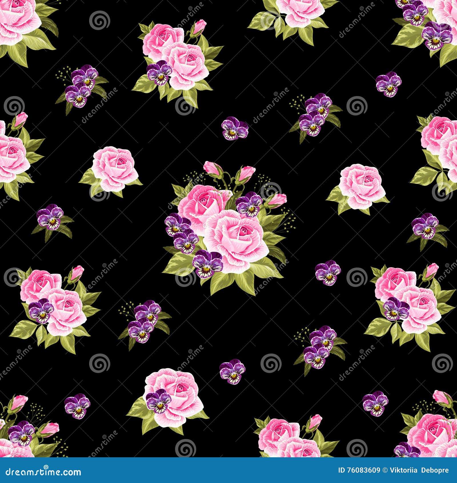 Configuration florale sans joint avec des roses