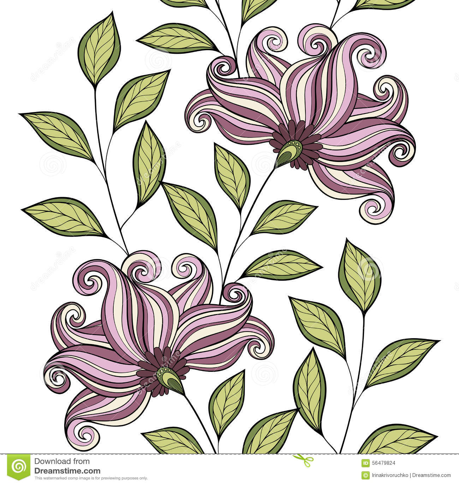 Configuration florale sans joint de vecteur