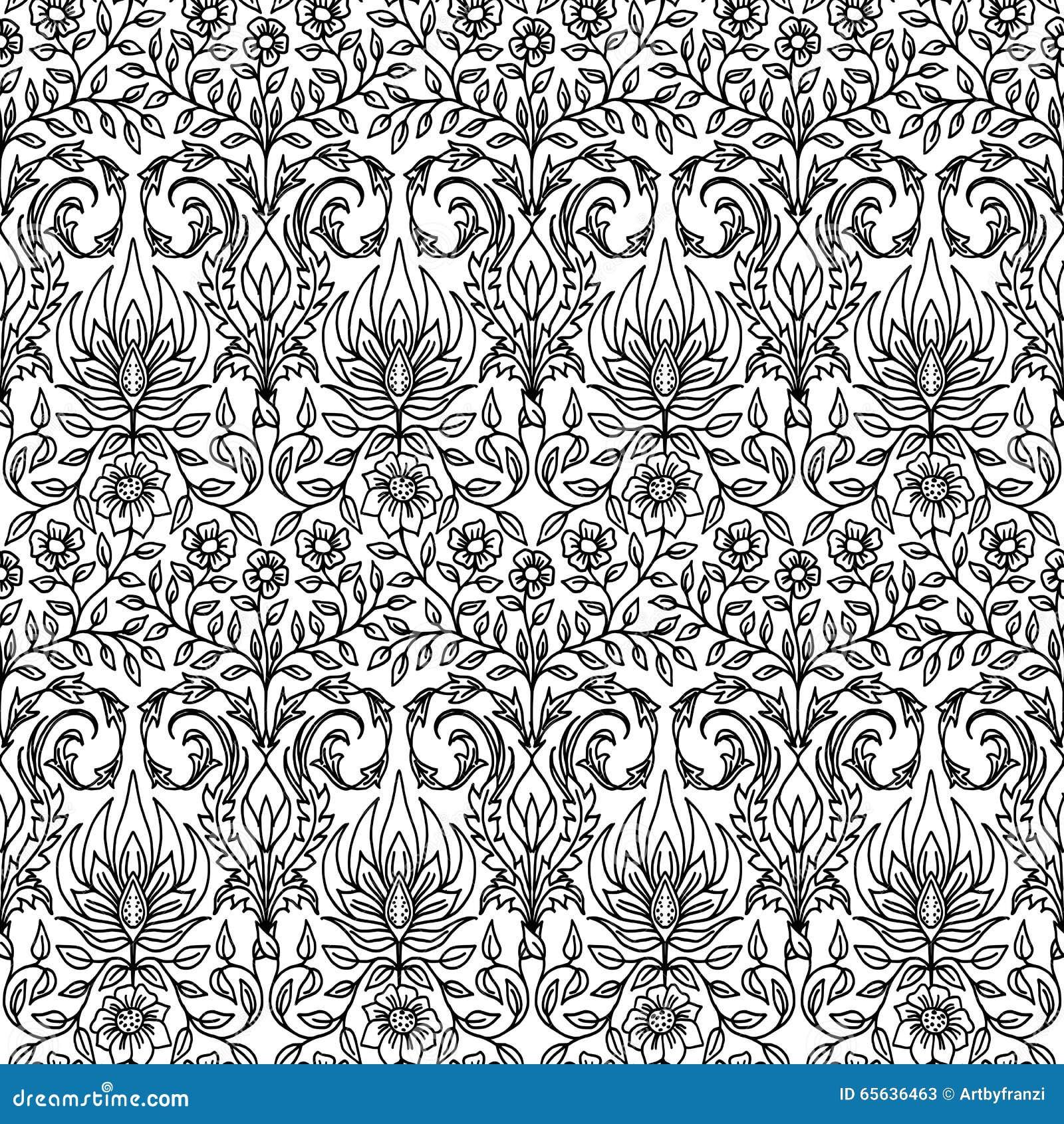 Configuration florale sans joint tirée par la main