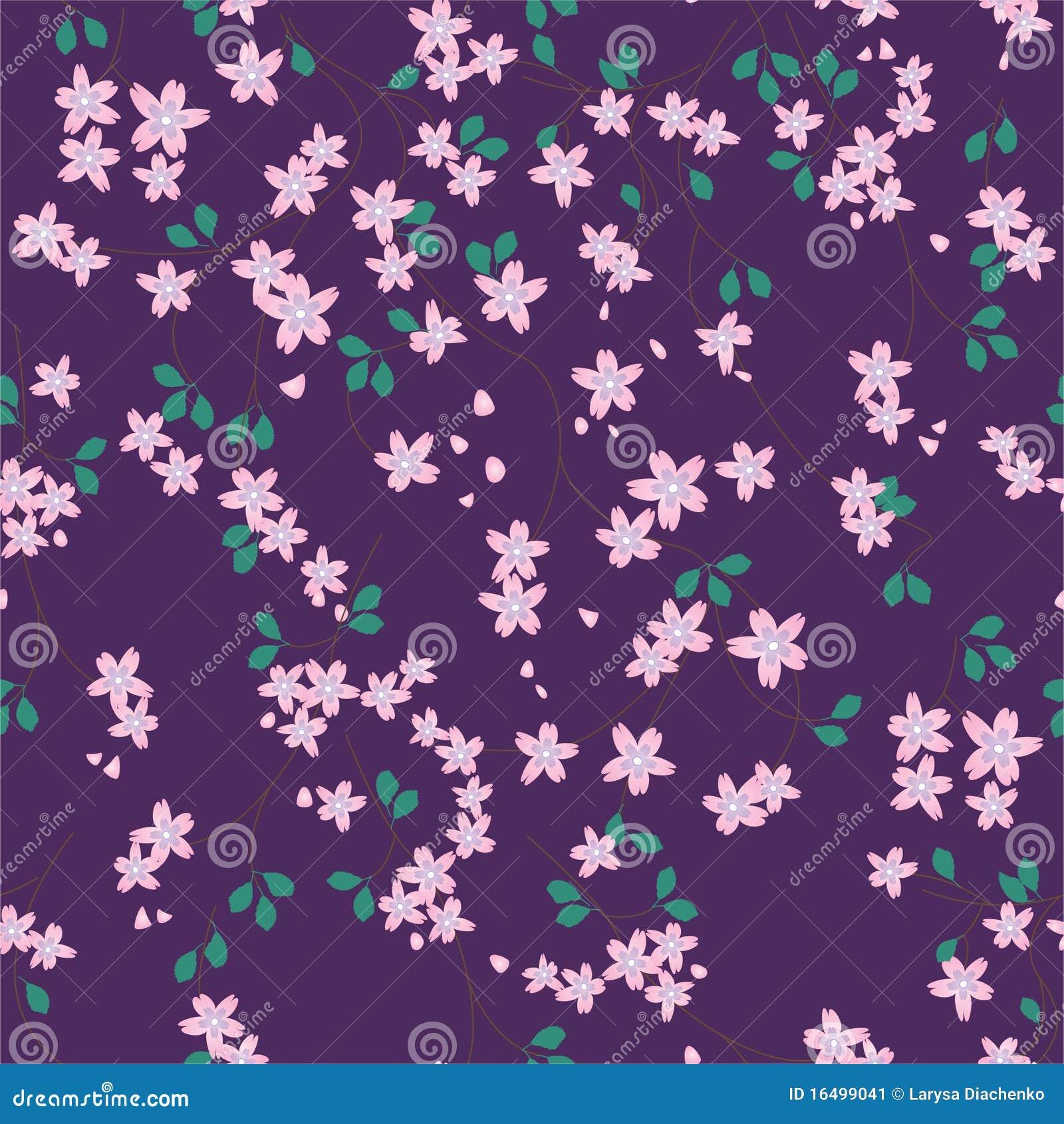 Configuration florale violette