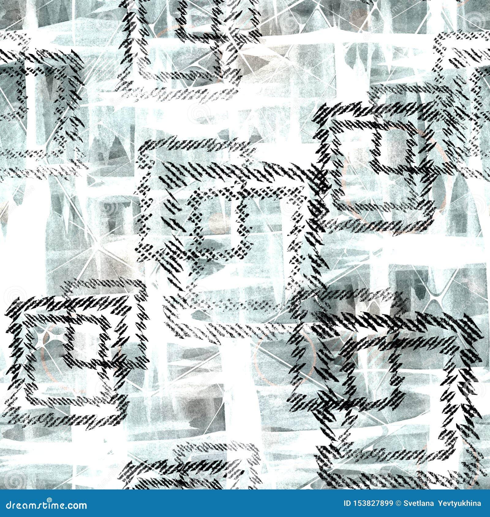 Configuration g?om?trique abstraite sans joint Places noires sur un fond bleu-clair
