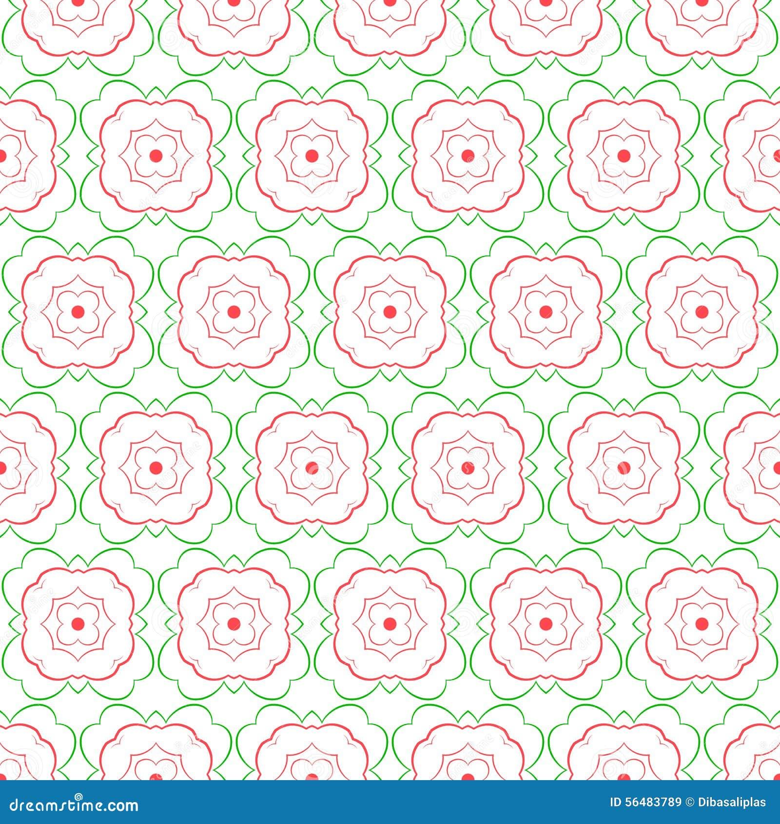 Configuration sans joint abstraite florale