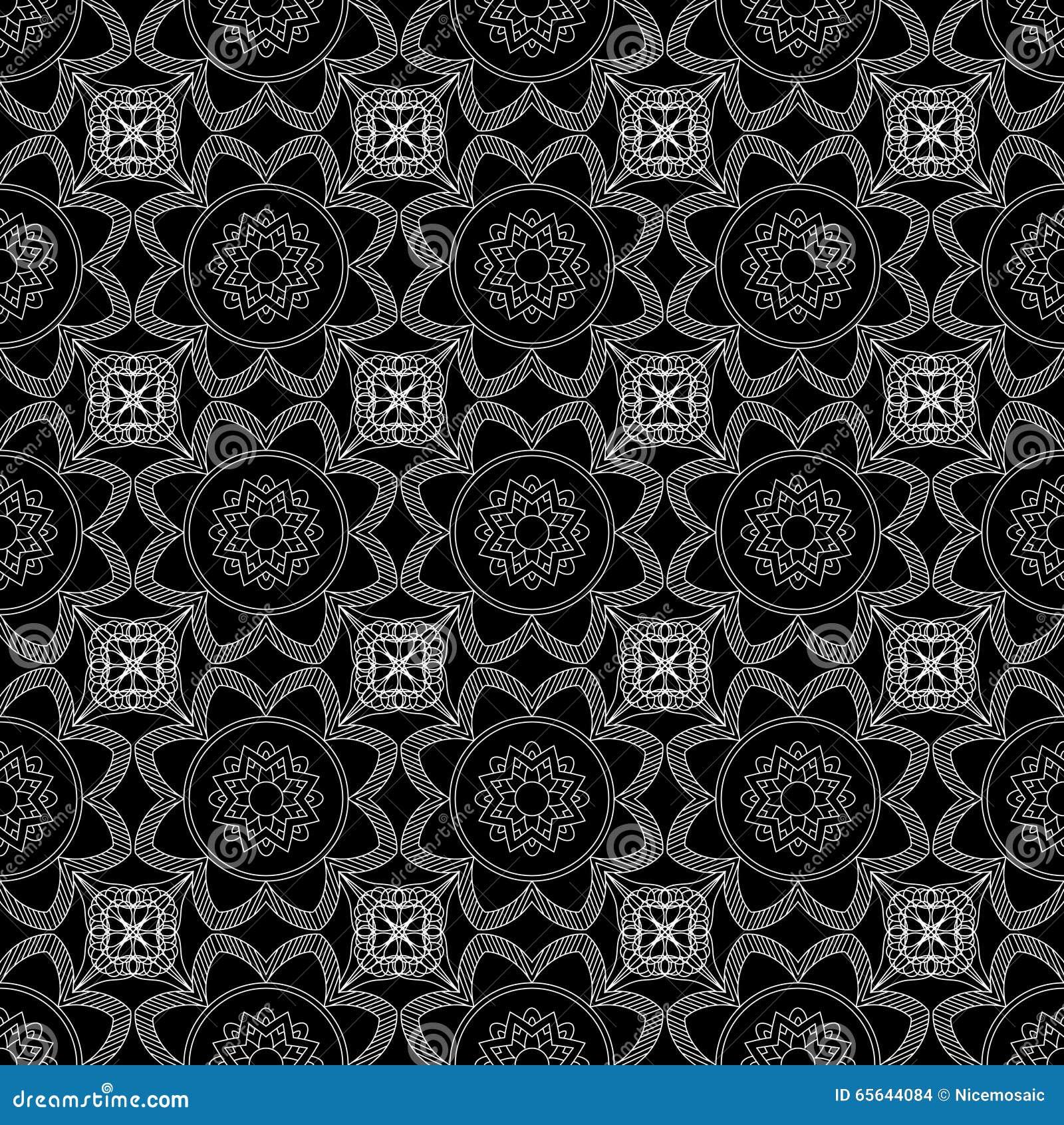 Configuration sans joint abstraite Modèle d ornement de vintage Islamique, AR