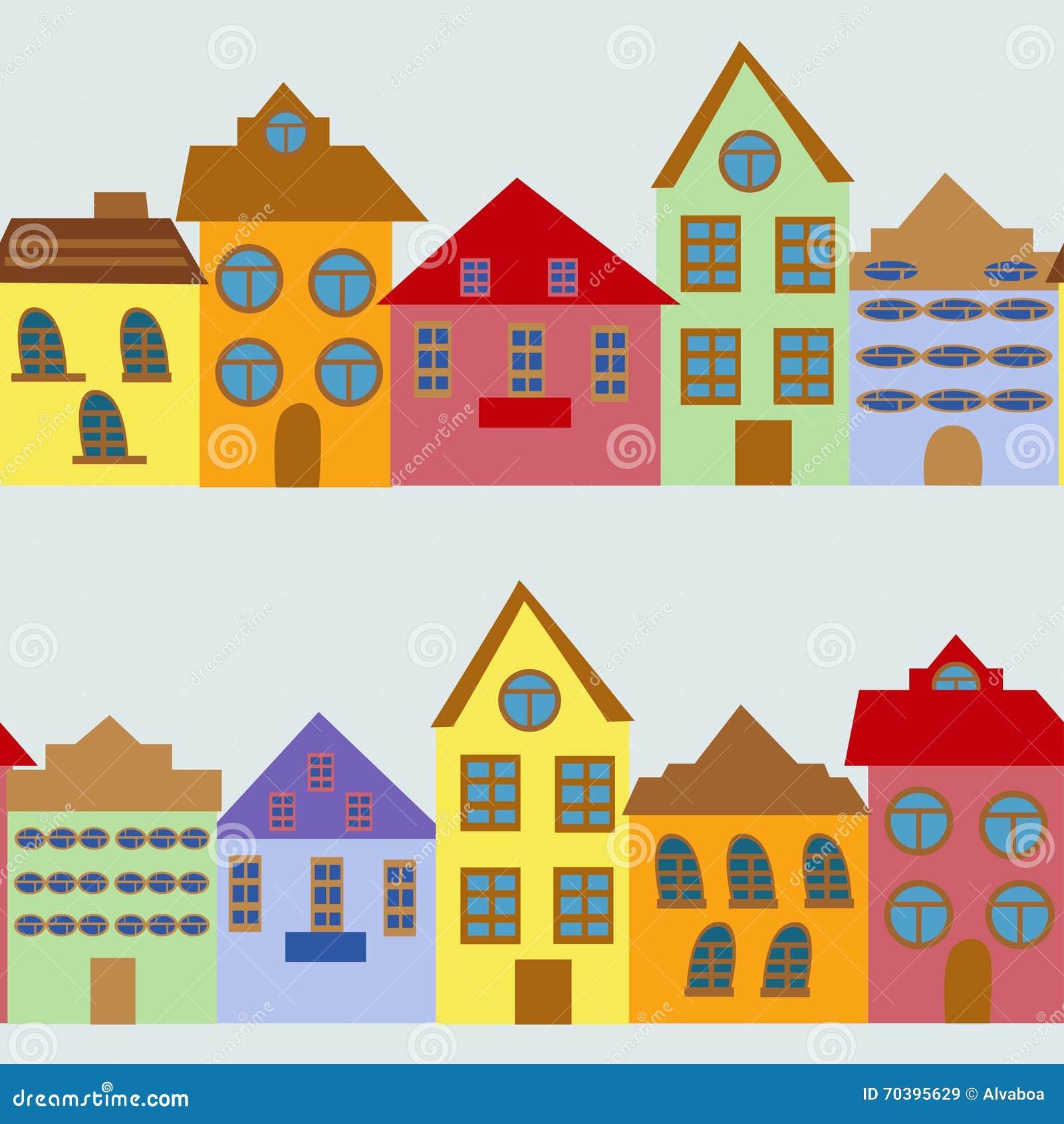 Configuration sans joint avec des maisons de dessin anim for Dessins de construction de maison