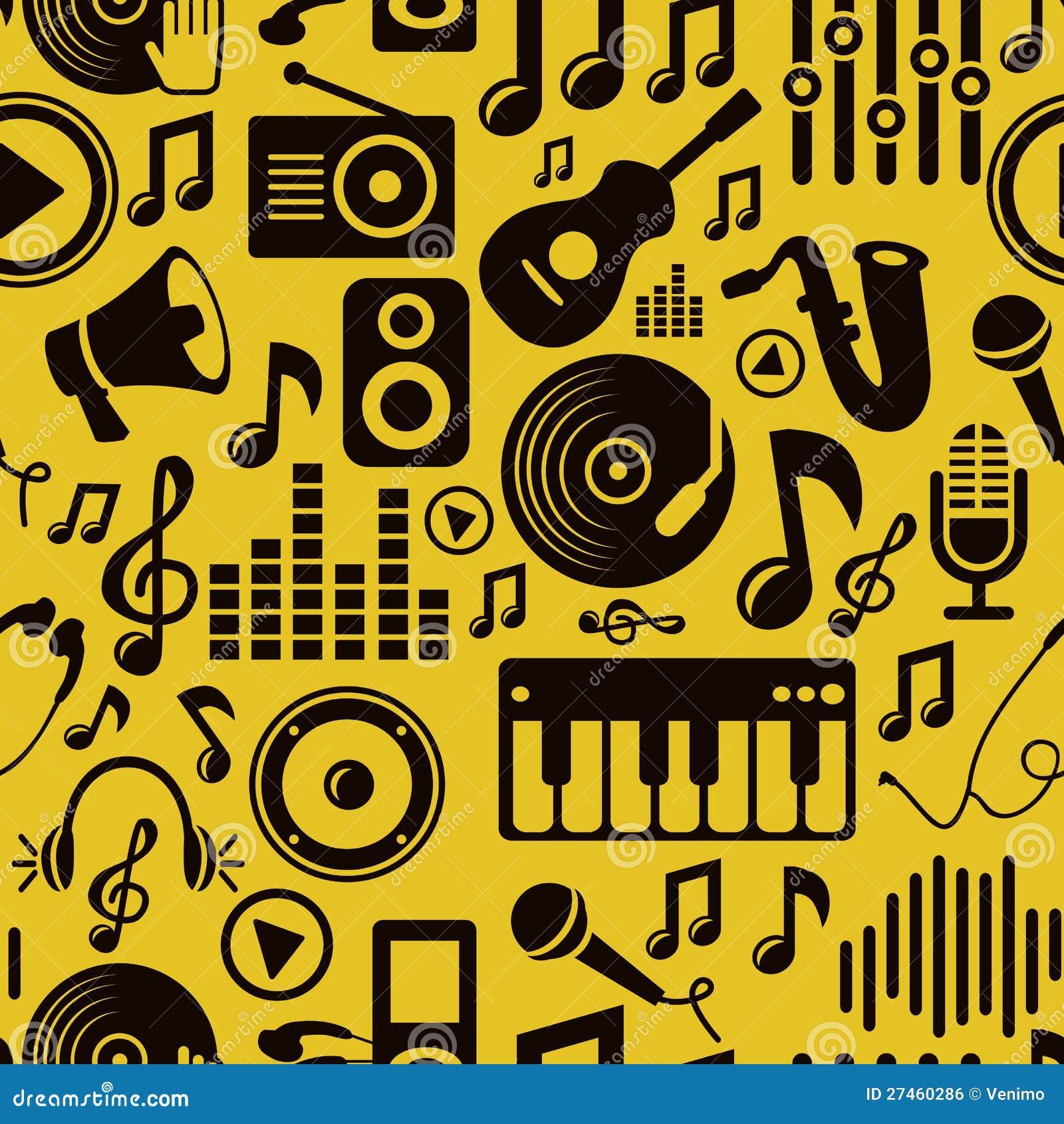 Configuration sans joint de musique de vecteur avec des graphismes