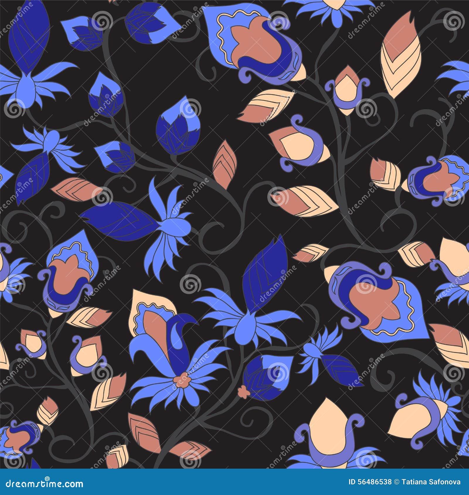Configuration sans joint de Paisley conception de l orient Illustration
