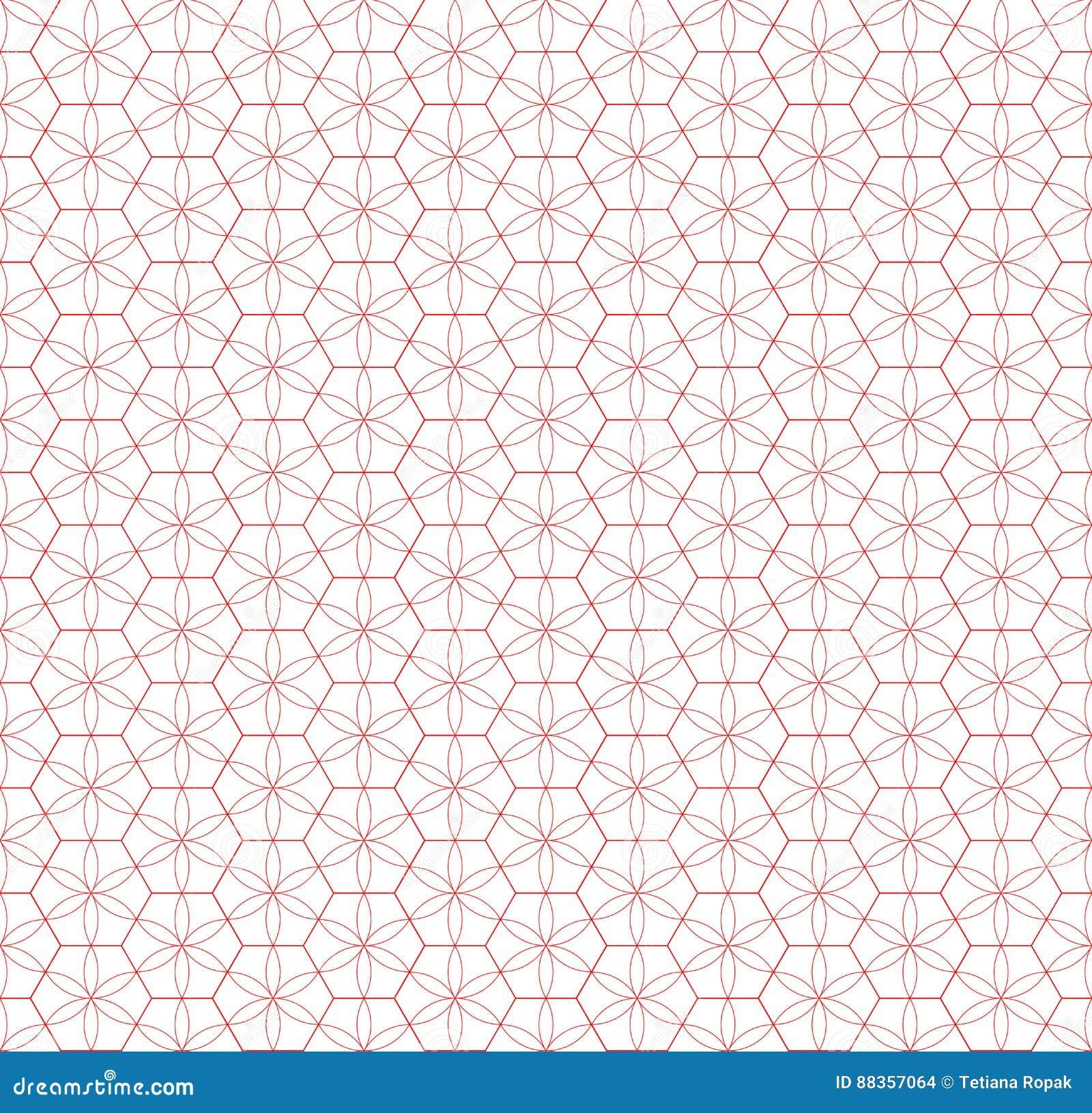 Configuration sans joint de réseau Effet géométrique d étoile Conception graphique de mode Illustration de vecteur Conception de