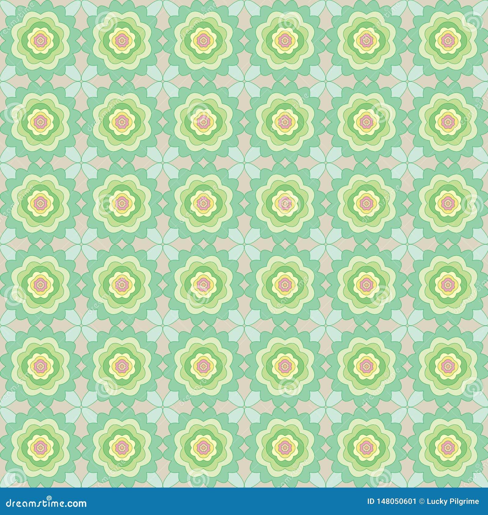 Configuration sans joint des fleurs abstraites