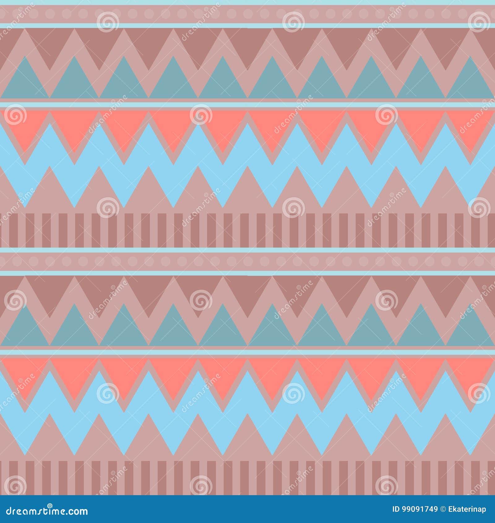 Configuration sans joint géométrique abstraite Style aztèque avec la triangle et la ligne modèle tribal de Navajo PRI géométrique