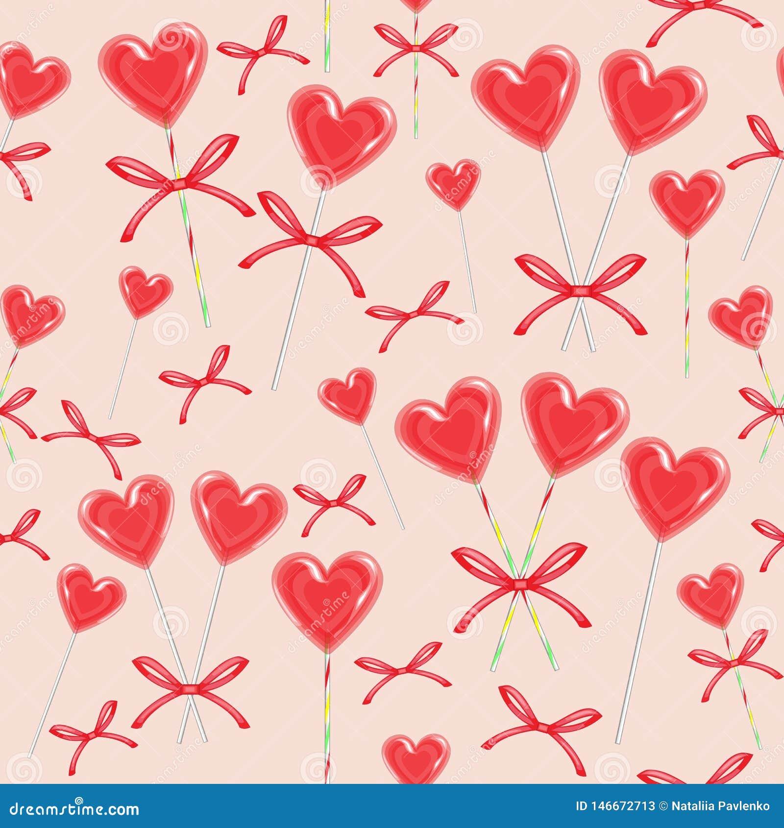 Configuration sans joint Sucrerie rouge sous forme de coeur bandé avec le ruban Le cadeau de Valentine pour la Saint-Valentin de