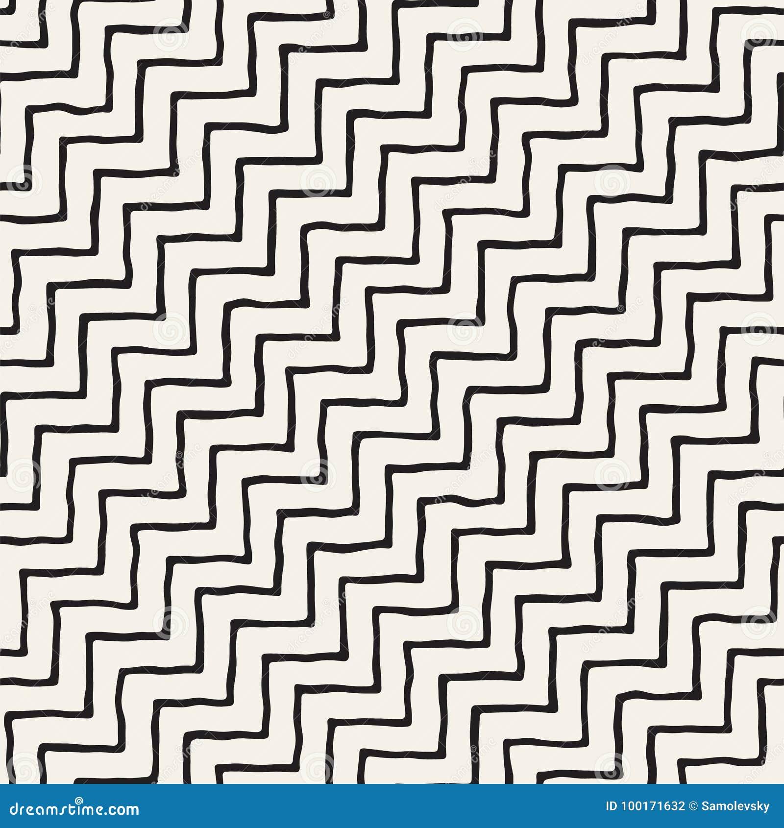 Carrelage Blanc Joint Noir configuration sans joint tirée par la main fond géométrique