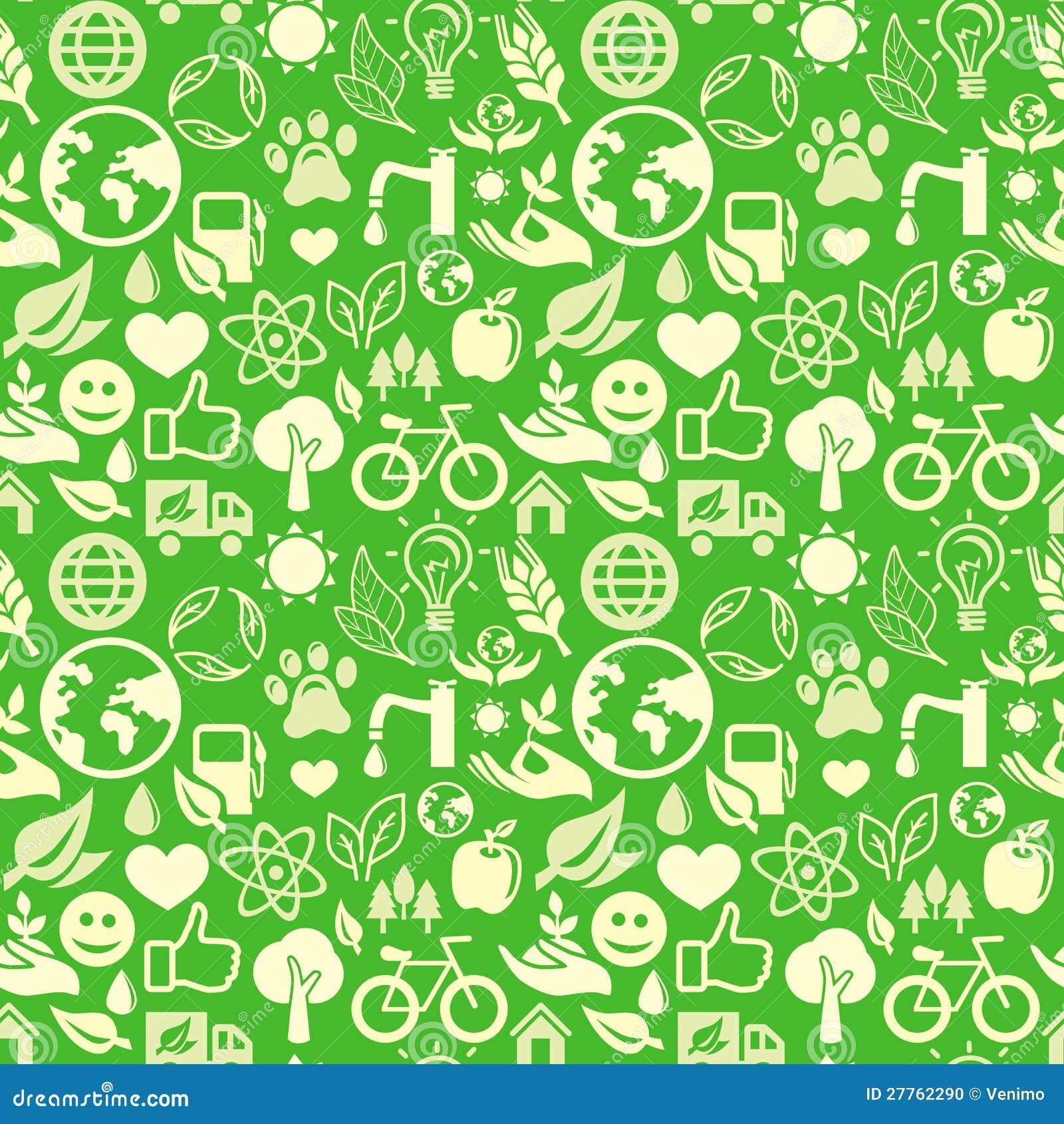 Configuration sans joint verte avec des signes d écologie