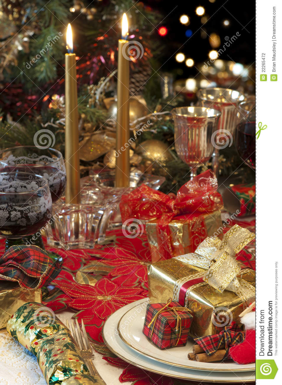 Configuration traditionnelle de table de no l - Table de noel traditionnelle ...
