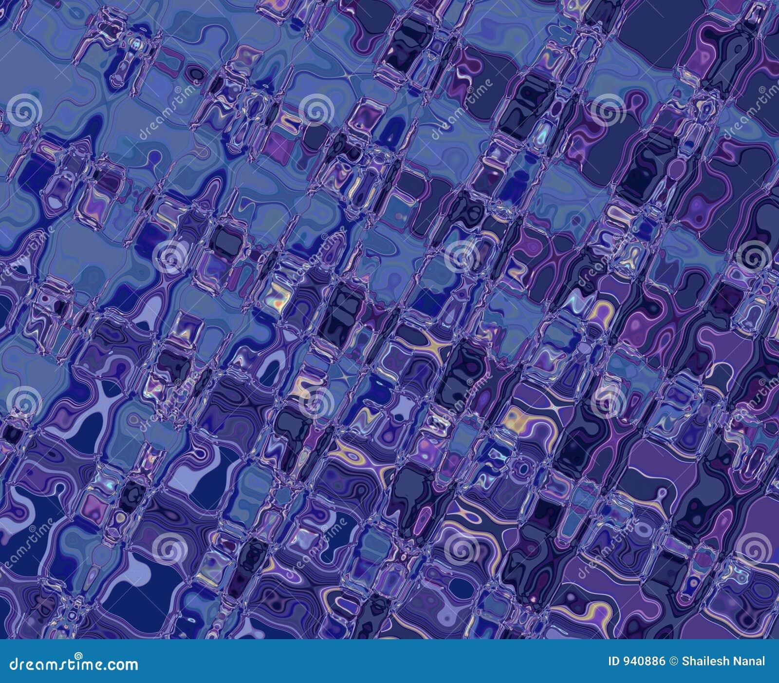 Configurations bleues pourprées